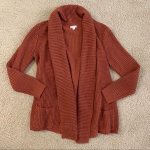 Merona Burnt Orange Cardigan Sweater
